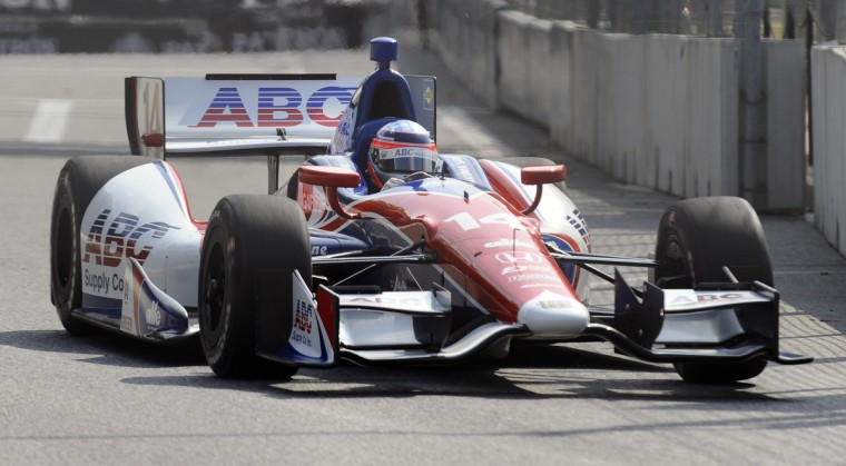 Indycar driver Takuma Sato driives during a practice session of the Grand Prix of Baltimore. (Kenneth K. Lam/Baltimore Sun)