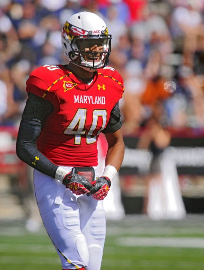 "Name: Matt Robinson College: Maryland Position: Linebacker Year: Junior High school: Atholton Hometown: Columbia 2012 stats: 26 tackles, one interception, one forced fumble in five games. Robinson is the super sub on this seven-man defensive squad. There's a little uncertainty about his game heading into 2013, simply because he missed significant portions of the past two seasons with injuries, and he's switching this year from safety to outside linebacker. But Maryland coaches rave about the ex-Atholton star's ability, and the former two-star prospect was able to beat out Alex Twine for a starting spot. ""I think he's comfortable – you know he's a smart player,"" Maryland defensive coordinator Brian Stewart told reporters this week. ""We haven't played a game yet, in practice he's been playing well, but I'd like to see him live. He's tough; he's more physical than you'd like to think. He loves the game of football and he's smart."" Photo credit: Karl Merton Ferron / The Baltimore Sun"