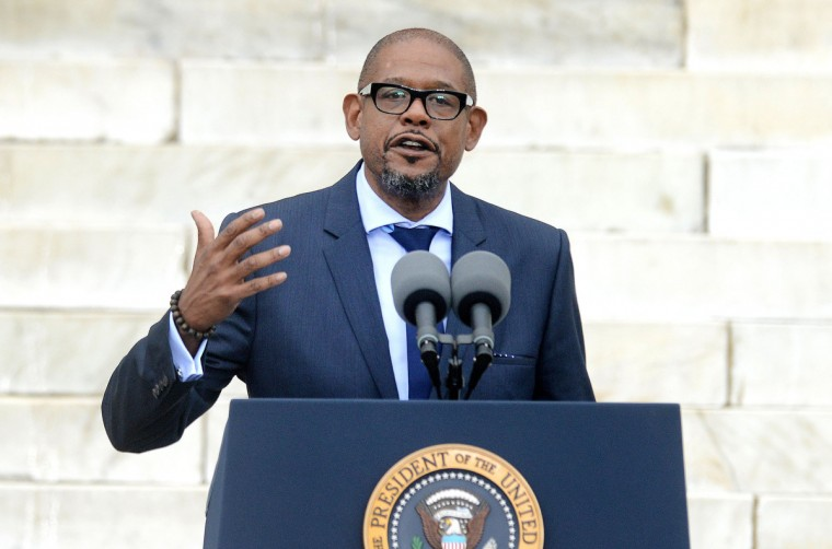"Forest Whitaker speaks during the ""Let Freedom Ring"" ceremony to commemorate the 50th anniversary of the March on Washington for Jobs and Freedom at the Lincoln Memorial on the National Mall on August 28, 2013 in Washington, DC. (Olivier Douliery/Abaca Press/MCT)"