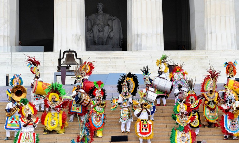 "A Junkaroo dance is performed during the ""Let Freedom Ring"" ceremony to commemorate the 50th anniversary of the March on Washington for Jobs and Freedom at the Lincoln Memorial on the National Mall on August 28, 2013 in Washington, DC. (Olivier Douliery/Abaca Press/MCT)"