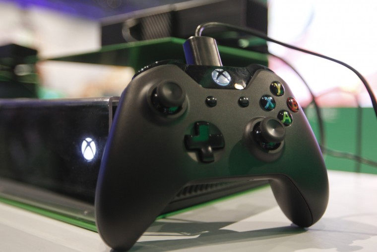 The Xbox One controller is pictured at the Microsoft Games exhibition stand during the Gamescom 2013 fair. (Ina Fassbender/Reuters)
