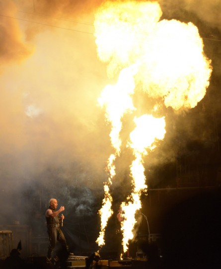 Till Lindemann, singer of German hard rock band Rammstein performs during the 24th Wacken Open Air Festival 2013 in Wacken, August 1, 2013. (Fabian Bimmer/Reuters)