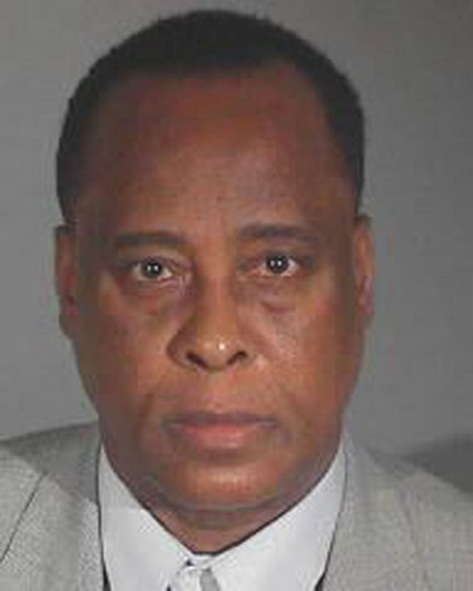 Dr. Conrad Murray is shown in this Los Angeles County Sheriff's Department booking photograph taken November 7, 2011, the day of his involuntary manslaughter conviction of pop star Michael Jackson death and released to the news media November 29, 2011, the day Murray was handed a four year sentence for the death of of Jackson. Murray will serve his four year sentence at a Los Angeles County Sheriff's Department facility. REUTERS/Los Angeles County Sheriff's Department/Handout