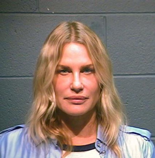 Actress and environmental activist Daryl Hannah is shown in this Wood County, Texas, Sheriff's Office photograph on October 4, 2012. Hannah was arrested in northeast Texas on Thursday after she allegedly attempted to stand in front of an earthmoving machine that was clearing ground for the construction of the controversial Keystone XL pipeline. REUTERS/Wood County Sheriff's Office/Handout