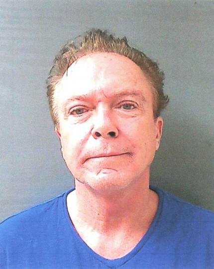 David Cassidy is shown in this Schodack Police Department photo after being arrested and charged with felony drunken driving in Schodack, New York, August 21, 2013. Cassidy, 63, was stopped shortly after midnight in Schodack, N.Y., about 15 miles (24 km) south of state capital Albany, when he failed to turn off his car's high-beam headlights against oncoming traffic, said Schodack Police Chief Bernhard Peter. REUTERS/Schodack Police Department/Handout