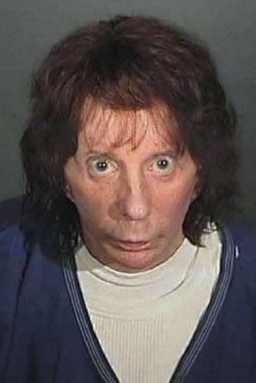 "Music producer Phil Spector is seen in this undated police booking photo released by the Los Angeles County Sheriff's Department on April 13, 2009. Spector was convicted on April 13, 2009 of murdering Hollywood actress Lana Clarkson in 2003, and will likely spend the rest of his life in prison. The man once revered for revolutionizing pop music in the 1960s with his layered ""Wall of Sound"" production technique, faces 18 years to life behind bars when he is sentenced on May 29. REUTERS/ Los Angeles County Sheriff's Department/Handout"