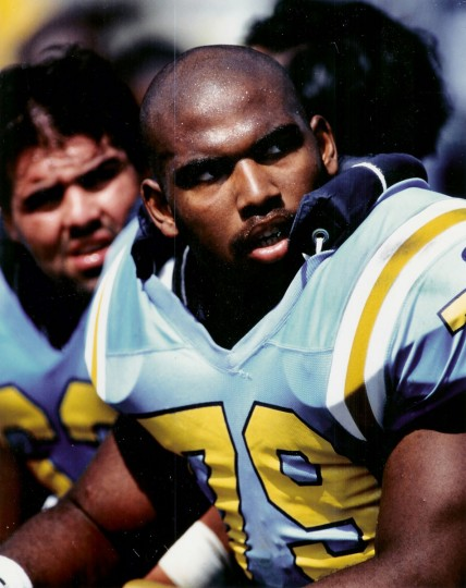Jonathan Ogden sits on the sidelines at UCLA during his junior year in 1994. (Handout photo)