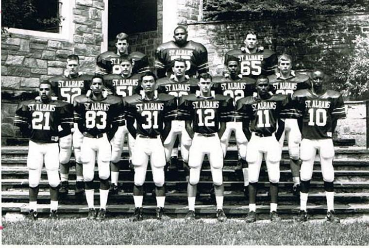 Jonathan Ogden's 1991 St. Albans School varsity football team. Ogden is in the top row, center. (Handout photo)