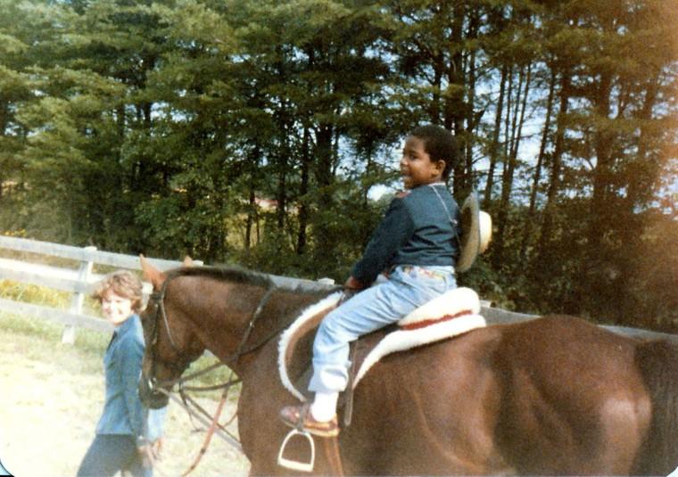 Jonathan Ogden rides horse at Rock Creek Park in Washington D.C. (Handout photo)