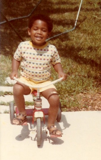 Long before his Ravens and Pro Football Hall of Fame days, Jonathan Ogden rides his first bike. (Handout photo)
