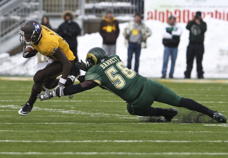 "Name: Shaquil Barrett College: Colorado State Position: Linebacker Year: Senior High school: Boys Town (Neb.) Hometown: Baltimore 2012 stats: 67 tackles, 7.5 tackles for loss, 3.5 sacks. All-Mountain West honorable mention. Barrett, who transferred to Boys Town High in Nebraska after two years at City, has emerged as a defensive stalwart and team leader for the Rams. Barrett, who started his college career at Division II Nebraska-Omaha, spoke to Lindy's Sports this summer about his knack for finding the end zone while playing on the defensive side of the ball. ""My first touchdown was during my sophomore year against Utah State,"" he recalled. ""They ran to the right side and our linebacker made the play. I saw the ball on the ground and ran it in from 15-20 yards out. I thought he was down, but I didn't hear a whistle. They reviewed the play and when I heard the announcer say, 'the play on the field stands,' I was happy then, and we won the game in overtime."" Photo credit: USA Today Sports"