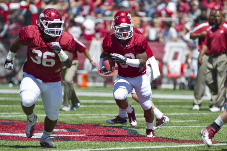 "Name: Kiero Small College: Arkansas Position: Fullback Year: Senior High school: Cardinal Gibbons Hometown: Baltimore 2012 stats: Took medical redshirt after suffering a season-ending foot injury. … As a junior, rushed for one yard and one touchdown. At 24, Small is the elder statesman on this list. He worked in his father's T-shirt store near Lexington Market before eventually ending up at a California JUCO four years ago. As a junior in 2011, Small proved himself to be an immensely effective blocker and an invaluable part of Arkansas' offense. Now in his third and final year at Arkansas, Small is one of the Razorbacks' captains. ""We're just going to focus on doing what we're coached,"" Small told Hawgs247. ""We're coached to play a certain style of football and that's what we're going to do. In the room, we hold each other accountable. We have high expectations. As a team I think we're going to do good just by taking it day-by-day."" Photo credit: USA Today Sports"