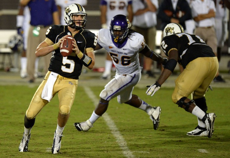 "Name: Derrell Johnson College: East Carolina Position: Linebacker Year: Senior High school: Cardinal Gibbons Hometown: Baltimore 2012 stats: 62 tackles, 11 tackles for loss, seven sacks, two fumble recoveries, eight QB hurries. All-Conference USA second team. Johnson's switch from defensive end to outside linebacker as a junior resulted in a major statistical jump in production. But the former Gibbons star – whose younger brother, Durand Johnson (Lake Clifton), plays basketball at Pittsburgh – has different goals in mind for his last year at East Carolina. ""To be honest, my stats last year, in a way I almost underachieved in my mind because of the pressure I put on myself,"" Johnson told The Daily Reflector (N.C.). ""I'm trying to improve on that this year and those personal accolades are all fine and dandy but this is my fourth year here, so for me it's all about winning a (Conference USA) championship at this point."" Photo credit: USA Today Sports"