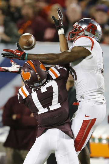 "Name: Kyle Fuller College: Virginia Tech Position: Cornerback Year: Senior High school: Mount St. Joseph Hometown: Baltimore 2012 stats: 52 tackles, 3.0 tackles for loss, two interceptions, five pass breakups. All-ACC honorable mention. Kyle, the third Fuller brother, will be joined in the Hokies secondary this season by the fourth and final Fuller brother, Kendall. Kyle appears to have a great shot at following older brothers Vincent Fuller (a former Tennessee Titan) and Corey Fuller (a Detroit Lions rookie) to the NFL after his senior season. But before that, he'll mentor Kendall – a five-star recruit – as he mans the other starting cornerback spot. ""He's helped me a lot just learning the defense since my season ended,"" Kendall said of Kyle to the Associated Press. ""That was a big help knowing the defense a little bit already and now getting into the more difficult things. Learning the simple things first was a big help."" Photo credit: USA Today Sports"