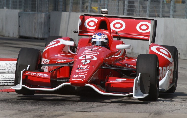 Scott Dixon races through a turn during IndyCar practice for the Grand Prix of Baltimore on Friday. (Brian Cleary/Getty Images)