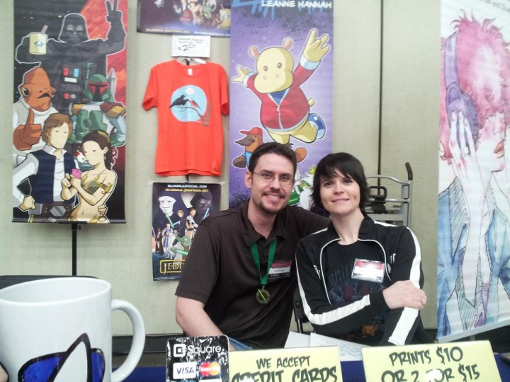 Husband and wife team Rod and Leanne Hannah at Baltimore Comic-Con 2013. (Carrie Wood/Darkroom Contributor)