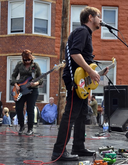 Small Apartments perform Sept. 14 at Hampdenfest's Chestnut Stage. (Steve Earley/Baltimore Sun)
