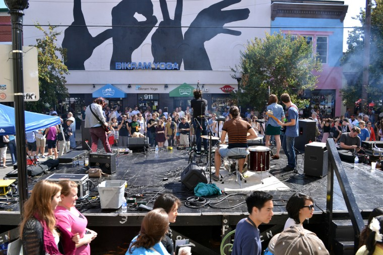 Raindeer performs Sept. 14 at Hampdenfest's The Avenue Stage. (Steve Earley/Baltimore Sun)