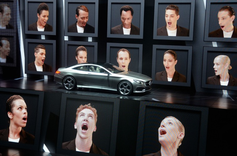 The new Mercedes S-Class Coupe concept is presented by an multimedia show at the IAA international automobile show. (Thomas Lohnes/Getty Images)