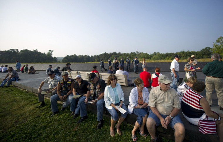Visitors attend ceremonies at the Flight 93 National Memorial commemorating the 12th anniversary of the 9/11 attacks on September 11, 2013 in Shanksville, Pennsylvania. (Jeff Swensen/Getty Images)