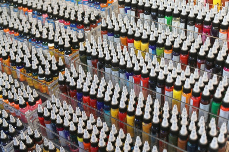 Tattoo inks are for sale at the London Tattoo Convention in Tobacco Dock on September 27, 2013 in London, England. (Oli Scarff/Getty Images)