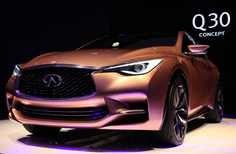The new Infiniti Q 30 concept car is displayed during a press conference of Infiniti, the luxury brand of Renault - Nissan, on September 10, 2013 at the media day of the 65th edition of the IAA (Internationale Automobil Ausstellung) auto fair in Frankfurt am Main, western Germany. (Daniel Roland/Getty images)