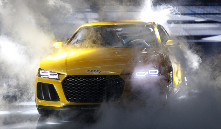 An Audi quattro sport concept hybrid car is presented during the media day of the IAA (Internationale Automobil Ausstellung) international motor show in Frankfurt am Main, western Germany. (Daniel Roland/Getty images)