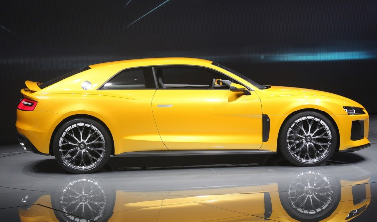 An Audi quattro sport concept hybrid car is presented during the media day of the IAA (Internationale Automobil Ausstellung) international motor show. (Daniel Roland/Getty images)