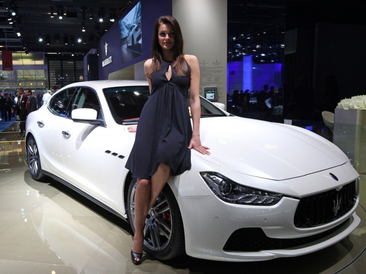 A Maserati Ghibli is pictured at the IAA (Internationale Automobil Ausstellung) in Frankfurt/Main,central Germany, on September 11, 2013. According to the organiser, more than 1,000 exhibitors from 35 countries will present their products during the show running from September 12 to 22, 2013. (Daniel Roland/Getty images)
