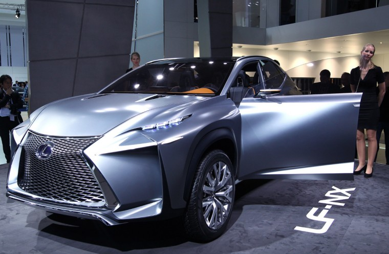 A Lexus LF-NX car is seen at the IAA (Internationale Automobil Ausstellung) international motor show in Frankfurt am Main, Germany, on September 11, 2013. (Daniel Roland/Getty images)