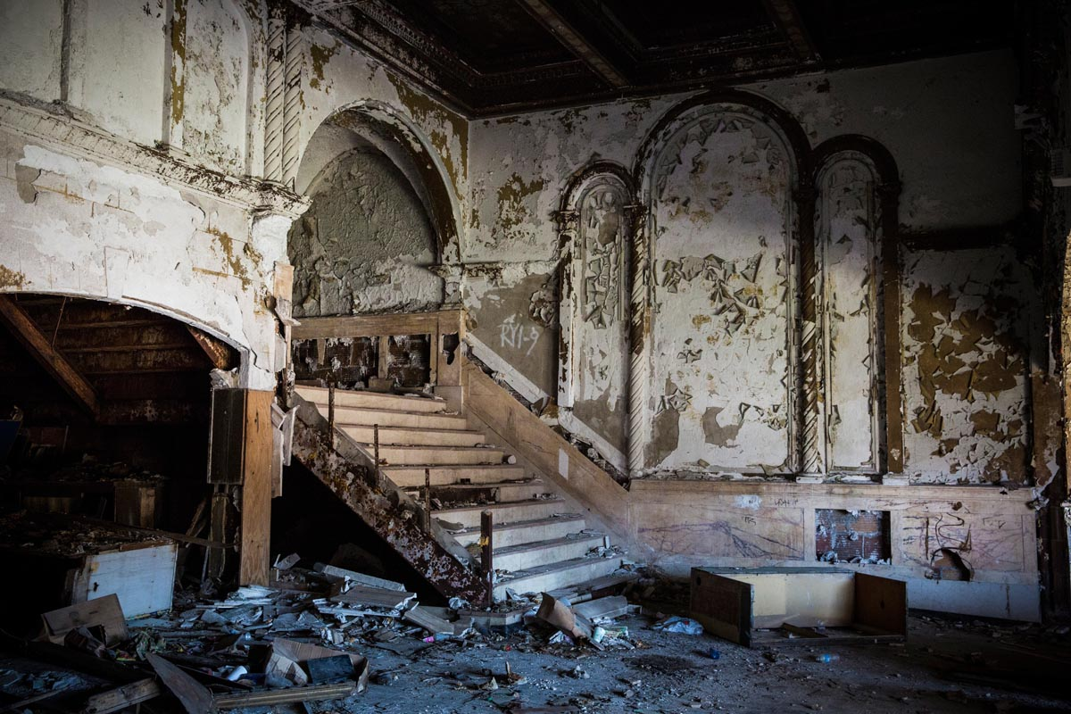 Abandoned Movie Theater Detroit Michigan