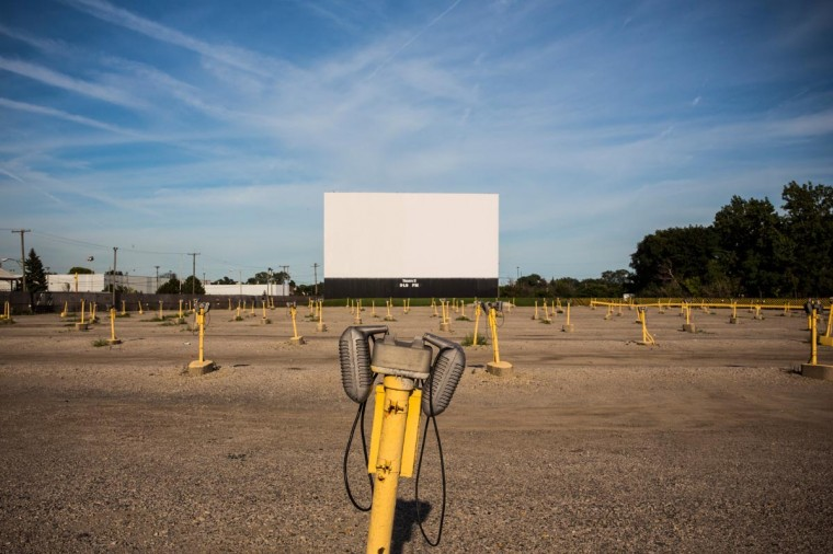 The Ford Wyoming Drive In Movie - which still has three operating screens - is seen on September 6, 2013 in Detroit, Michigan. Detroit is struggling with over 78,000 abandoned homes across 140 square miles and 16% unemployment; in July, the city declared bankruptcy. (Andrew Burton/Getty Images)