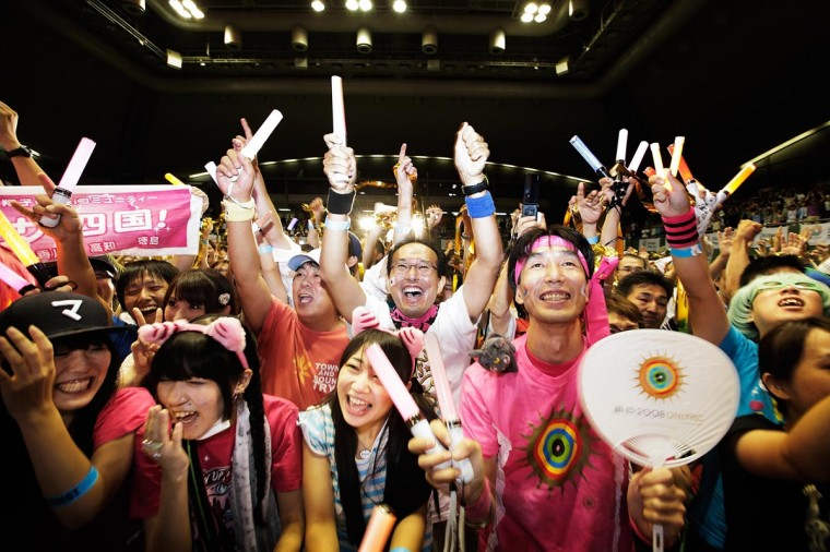Residents of Olympic bid city Tokyo celebrate after the announcement of the 2020 Summer Olympic Games host city at Komazawa Olympic Park on September 8, 2013 in Tokyo, Japan. Madrid was the first city to be eliminated, followed by Istanbul. (Adam Pretty/Getty Images)