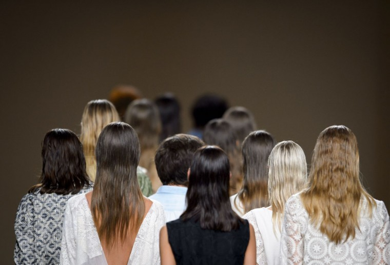 Models present creations by Ailanto during the 2014 Spring/Summer Mercedes-Benz Fashion Week in Madrid, Spain on September 13, 2013. (Dani Pozo/AFP/Getty Images)