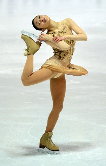 Japanese figure skater Miki Ando performs during the ladies' short program of the 45th Nebelhorn trophy figure skating competition in Oberstdorf, southern Germany. (CHRISTOF STACHE / AFP/Getty Images)