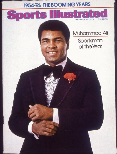 12/23/1974 - Sports Illustrated cover features on Sportsman of the Year Muhammad Ali. (Neil Leifer/Spors Illustrated)