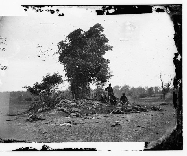 "The right portion of a 3-D photo called ""View on Battle-field of Antietam"" taken by Alexander Gardner following the battle of Antietam. Photos were captured in stereo (or, 3-D) images. (Alexander Gardner/Courtesy Library of Congress)"