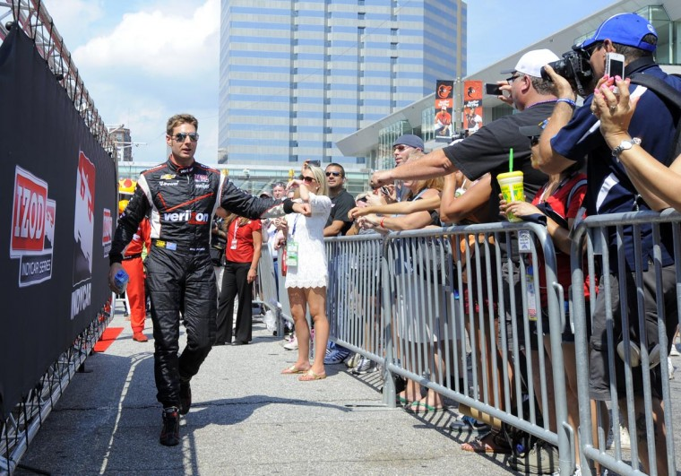 Will Power is introduced at the Grand Prix of Baltimore on Sept. 1, 2013. (Lloyd Fox/Baltimore Sun)