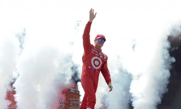 Scott Dixon is introduced at the Grand Prix of Baltimore on Sept. 1, 2013. (Lloyd Fox/Baltimore Sun)