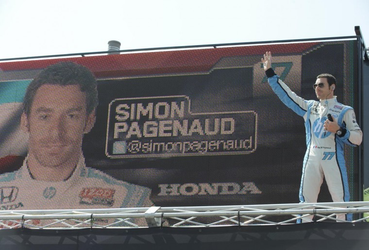 Simon Pagenaud is introduced at the Grand Prix of Baltimore on Sept. 1, 2013. (Lloyd Fox/Baltimore Sun)