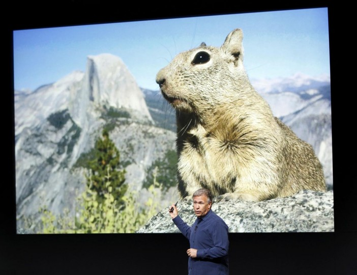 Phil Schiller, senior vice president of worldwide marketing for Apple Inc, talks about the new iPhone 5S camera at Apple Inc's media event in Cupertino, California September 10, 2013. (Stephen Lam/Reuters)