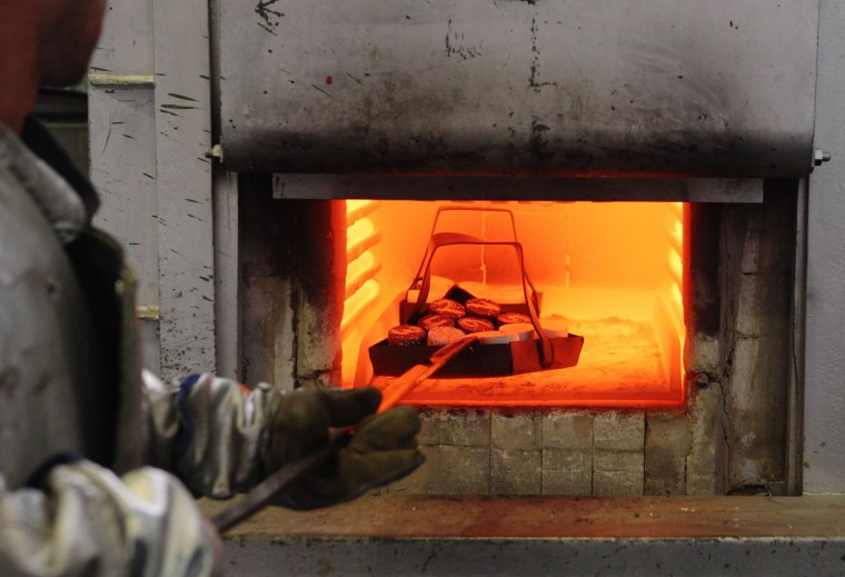 Samples are put into a furnace at the competence center of Austrian fireproof materials maker RHI in Leoben. Austrian fireproof materials maker RHI aims to keep its 2013 dividend stable in the face of ongoing problems in the steel industry, its main target market, its chief executive said. To match. (Heinz-Peter Bader/Reuters)
