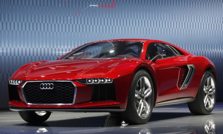 """The new """"Audi Nanuk"""" car is presented during a media preview day at the Frankfurt Motor Show (IAA) September 10, 2013. The world's biggest auto show will open to the public September 14-22. REUTERS/Wolfgang Rattay ((Wolfgang Rattay/Reuters photo)"""