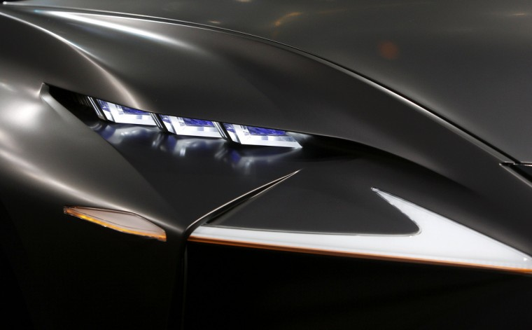 A group of headlight elements is pictured on a Lexus LF-NX mid-size crossover concept during a media preview day at the Frankfurt Motor Show (IAA) September 10, 2013. (Ralph Orlowski/Reuters photo)
