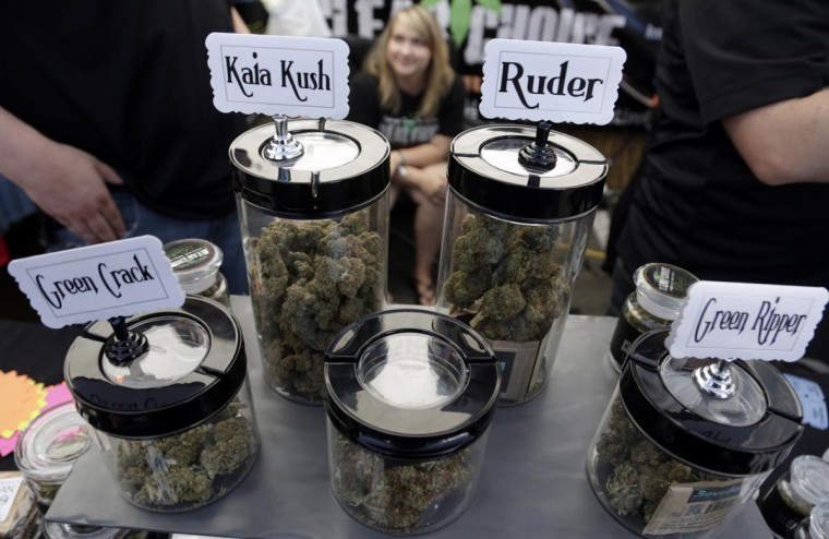 A vendor displays products at the High Times U.S. Cannabis Cup in Seattle, Washington September 8, 2013. (Jason Redmond/Reuters)