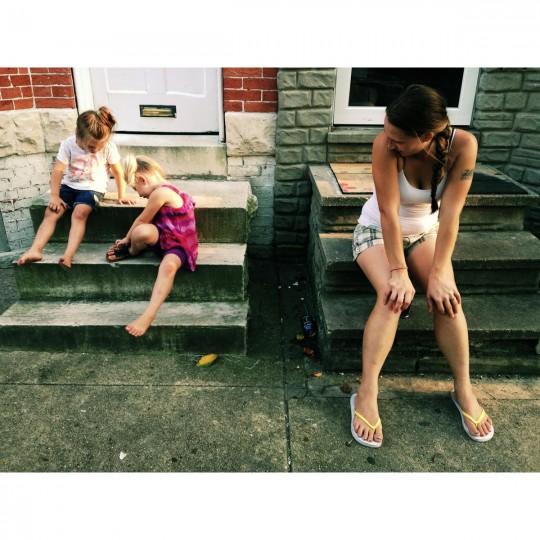 Riley, Briana, Tabitha. Riley is my neighbor. (Credit: Noah Scialom)