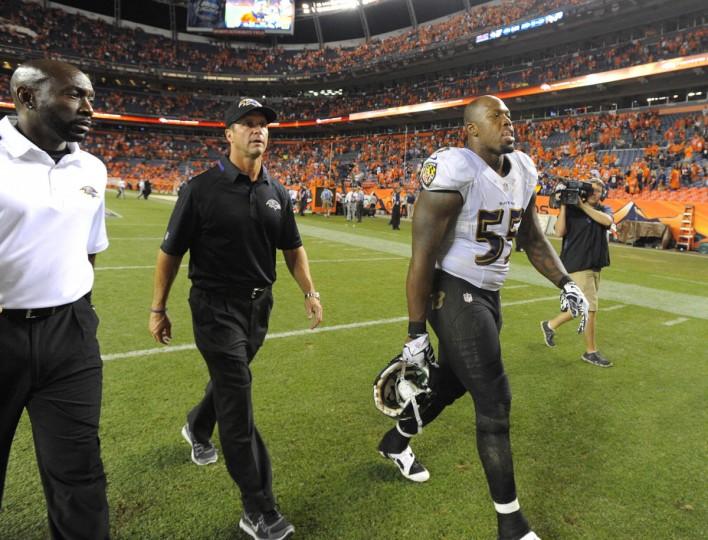 Baltimore Ravens vs Denver Broncos NFL football second half at Sports Authority Field at Mile High Stadium. (Lloyd Fox/Baltimore Sun)