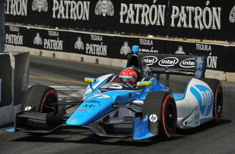 Grand Prix of Baltimore: Winner #77 Simon Pagenaud, riding for Schmidt Hamilton HP Motorsports, on Turn 8. (Amy Davis /Baltimore Sun)