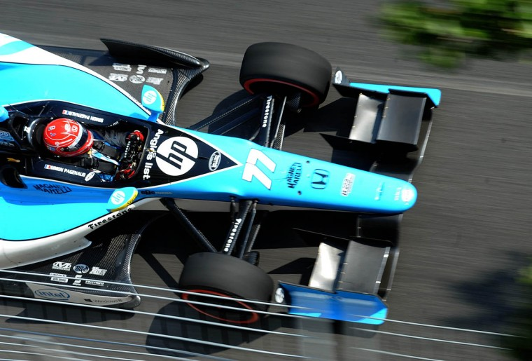 Simon Pagenaud heads down Conway out of turn 4 during the Grand Prix of Baltimore. (Jerry Jackson/Baltimore Sun)
