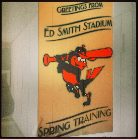 Spring training begins at Ed Smith Stadium in Sarasota on Feb. 12, 2013.